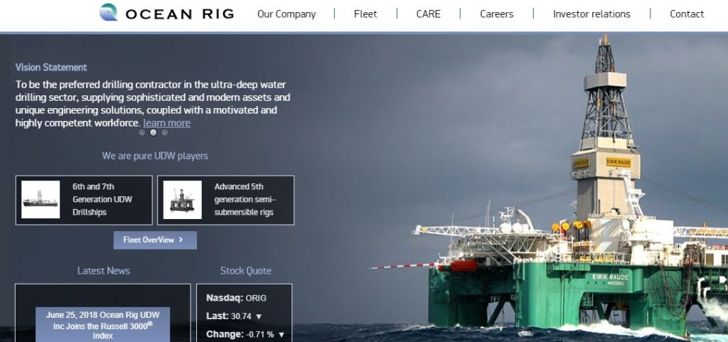 Ocean Rig UDW Offers Oilfield Services For Offshore Oil, Gas
